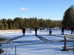 Spring trap shooting from last year at the Cushing Rifle Club. Looks like the St. Coix Falls team will need to shovel before they shoot for the first time next week too.